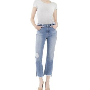 Anthropologie Distressed Kick Flare Jeans Size 10